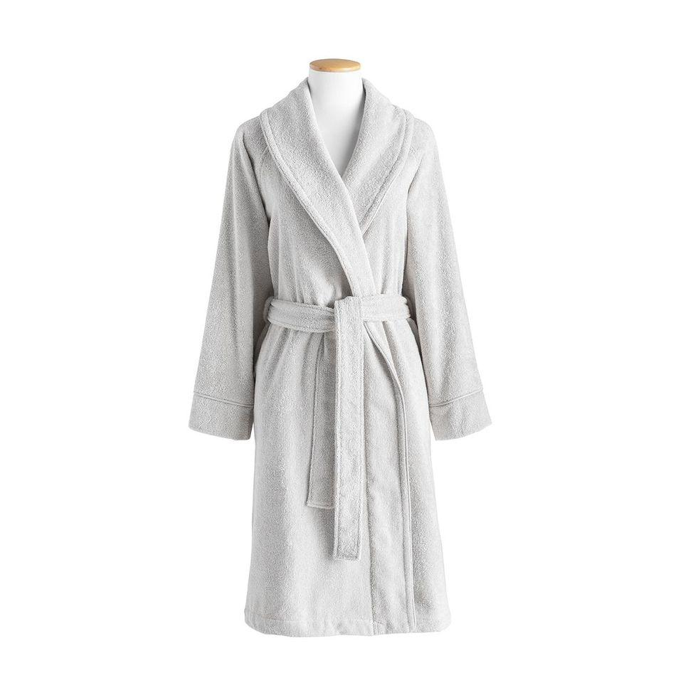 Ess-cale Light Grey Robe by Alexandre Turpault | Fig Linens and Home