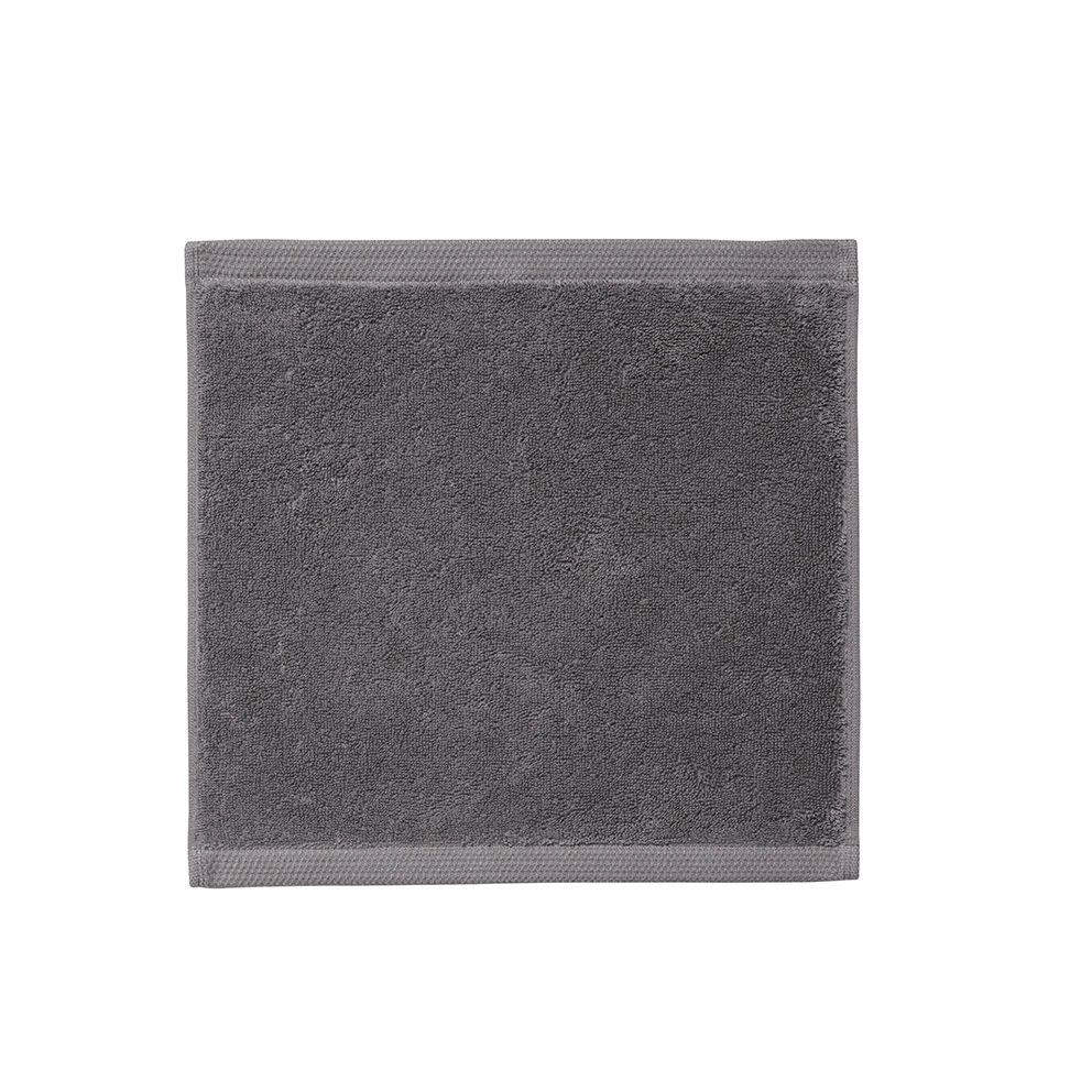 Essentiel Graphite Grey Washcloth - Alexandre Turpault Bath Towels| Fig Linens