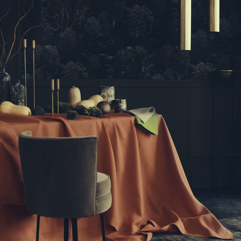 Florence Copper Table Linens by Alexandre Turpault
