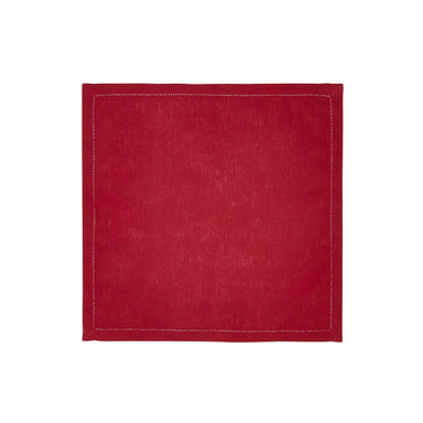 Clearance Sale Fig Linens - Alexandre Turpault Table Linens - Florence Cranberry Napkin