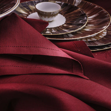 Clearance Sale Florence Cranberry Table Linens by Alexandre Turpault | Fig Linens