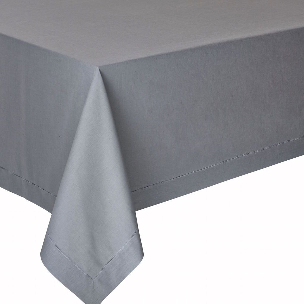 Florence Dark Dove Tablecloth by Alexandre Turpault | Fig Linens