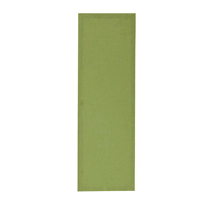 Fig Linens - Alexandre Turpault Table Linens - Florence Plane Tree Green Table Runner