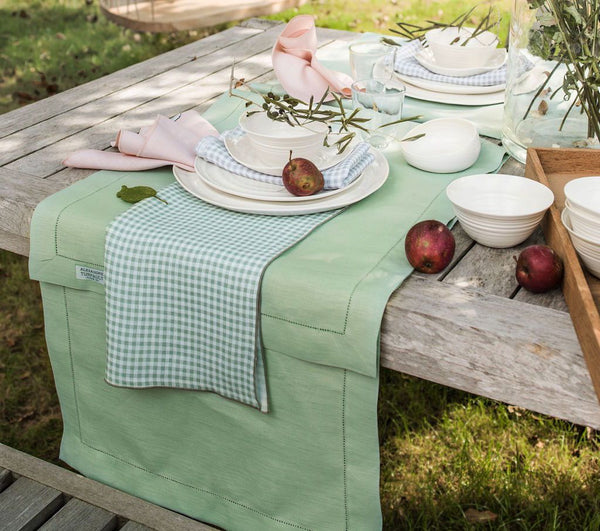 Fig Linens - Alexandre Turpault Table Linens - Florence Sage Green