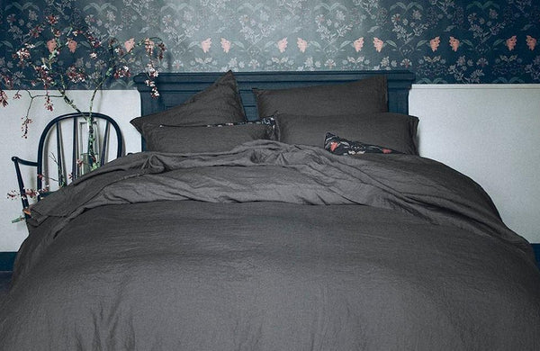 Nouvelle Vague Stone Grey Bedding by Alexandre Turpault | Fig Linens