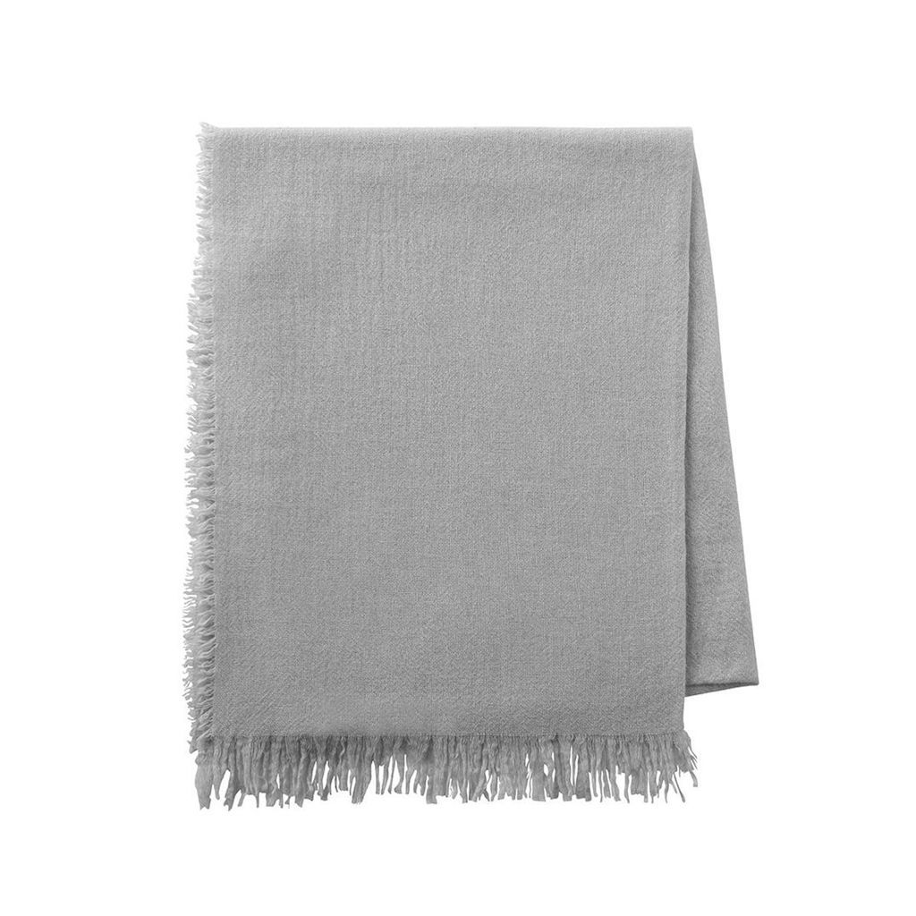 Loulou Light Grey Throw by Alexandre Turpault