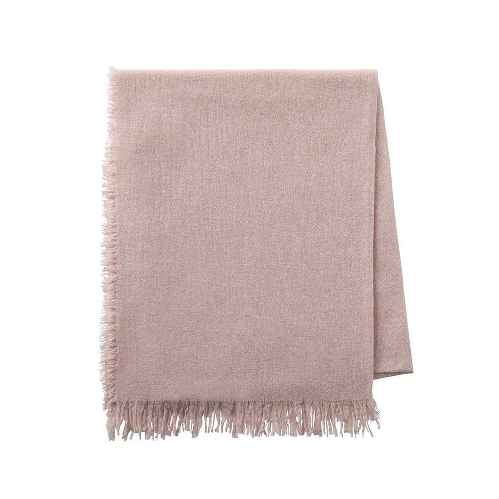 Loulou Pink Dew Throw by Alexandre Turpault | Fig Linens and Home