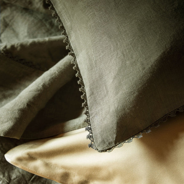 Fig Linens - Alexandre Turpault Linen Bedding - Nouvelle Vague Beech Bark Bedding