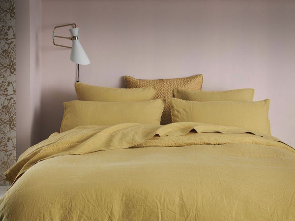 Nouvelle Vague Gold Bedding by Alexandre Turpault | Fig Linens