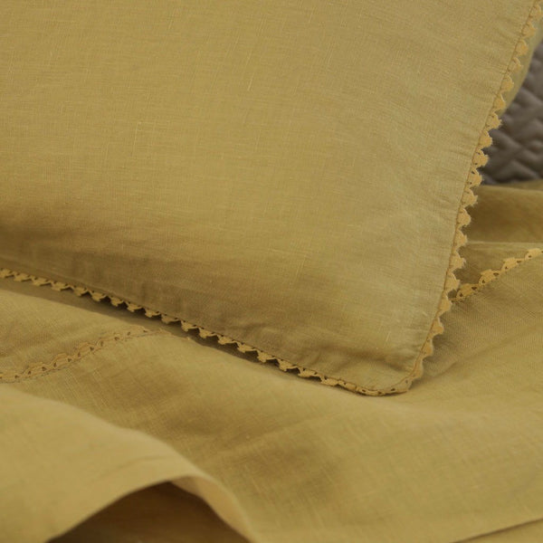 Fig Linens - Alexandre Turpault Bedding - Nouvelle Vague Gold Bedding