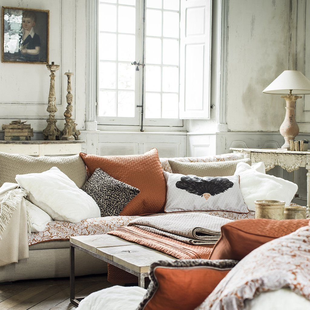 Palace Amber Coverlet & Shams by Alexandre Turpault | Fig Linens
