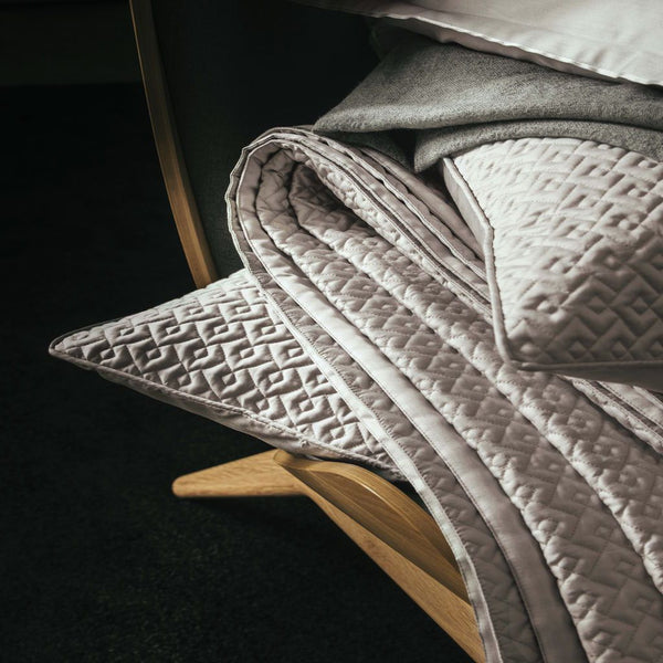 Palace Oyster Coverlet & Shams by Alexandre Turpault  Fig Linens