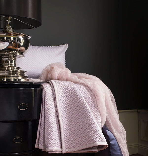 Palace Pink Coverlet & Shams by Alexandre Turpault | Fig Linens