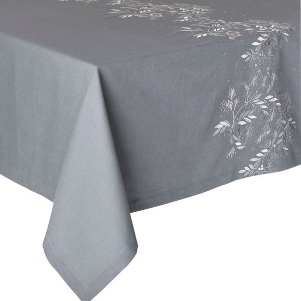 Saisons Dark Dove Tablecloth by Alexandre Turpault | Fig Linens
