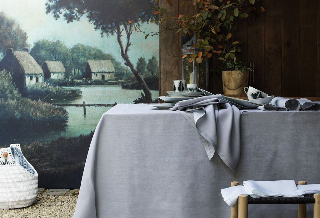 Florence Silver Table Linens by Alexandre Turpault | Fig Linens