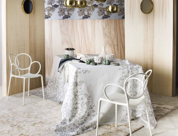 Sublime Silver Tablecloth by Alexandre Turpault | Fig Linens
