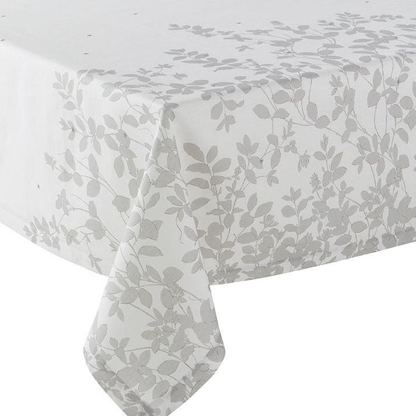 Fig Linens - Alexandre Turpault Table Linens - Sublime Silver Tablecloth