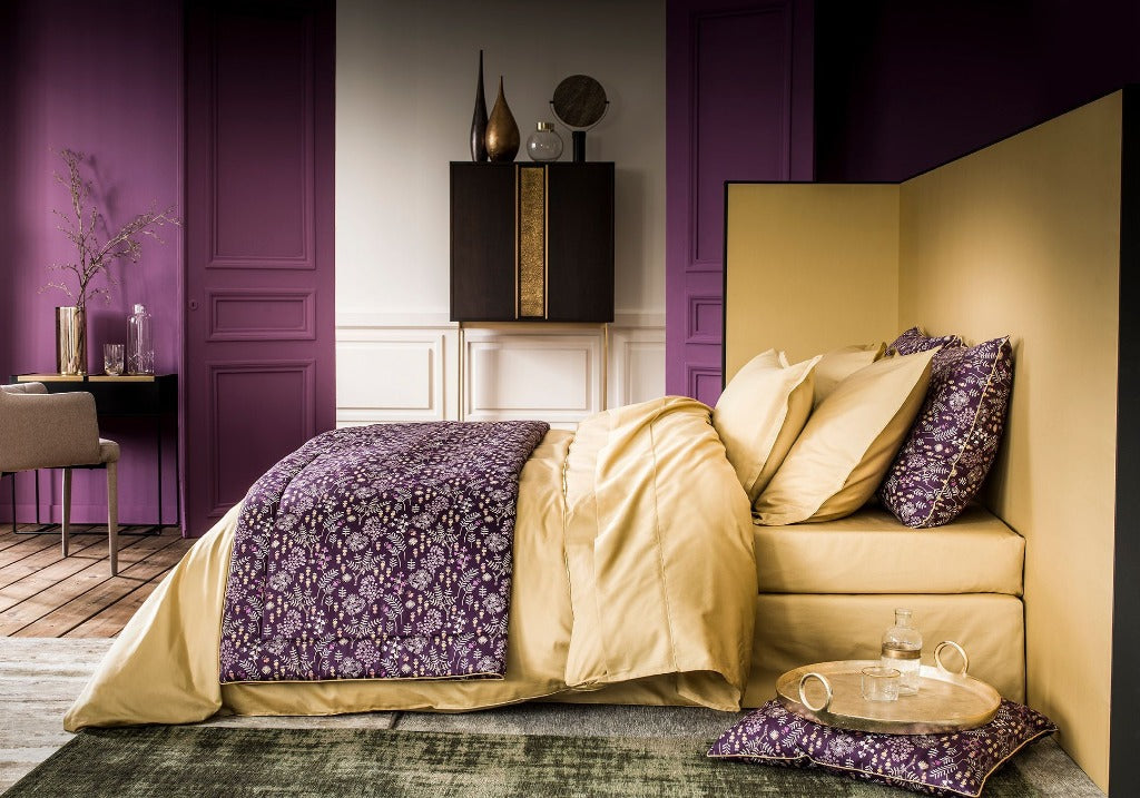 Teo Gold Bedding by Alexandre Turpault | Fig Fine Linens and Home