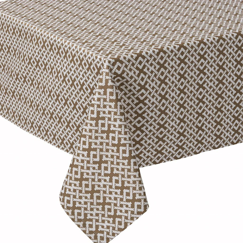 Fig Linens - Alexandre Turpault Table Linens - Tribu Taupe Tablecloth