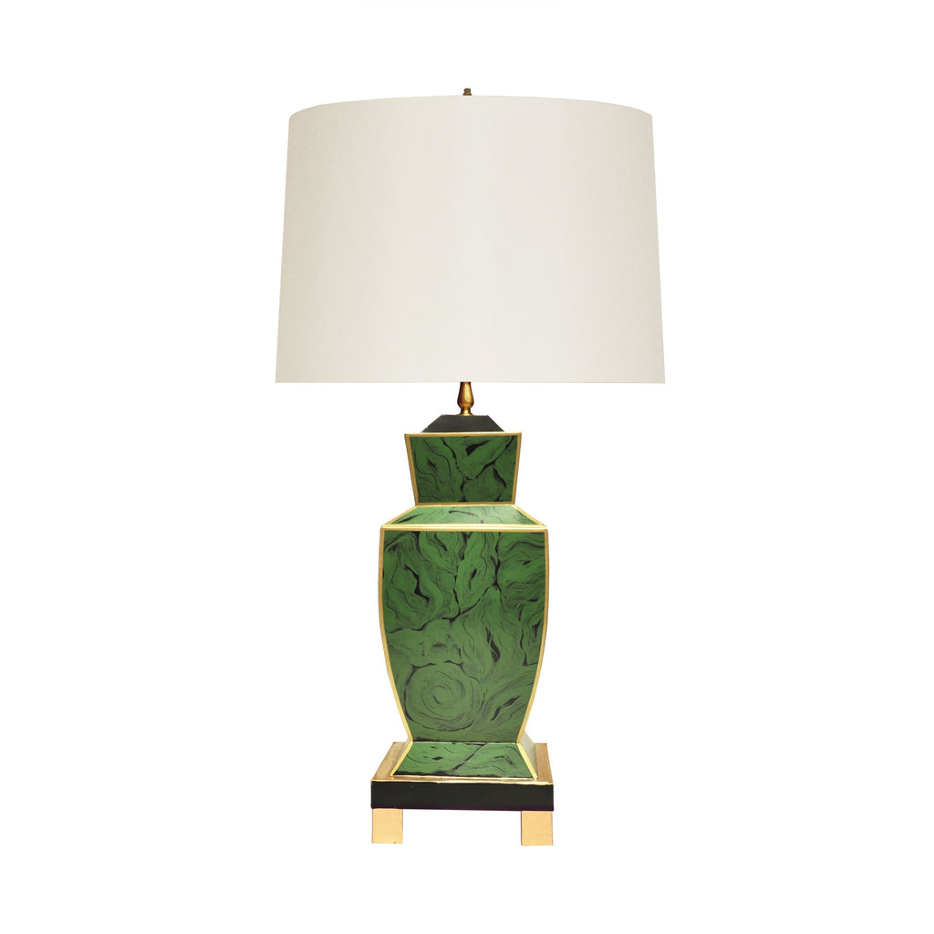 Bianca Malachite Urn Table Lamp by Worlds Away | Fig Linens and Home
