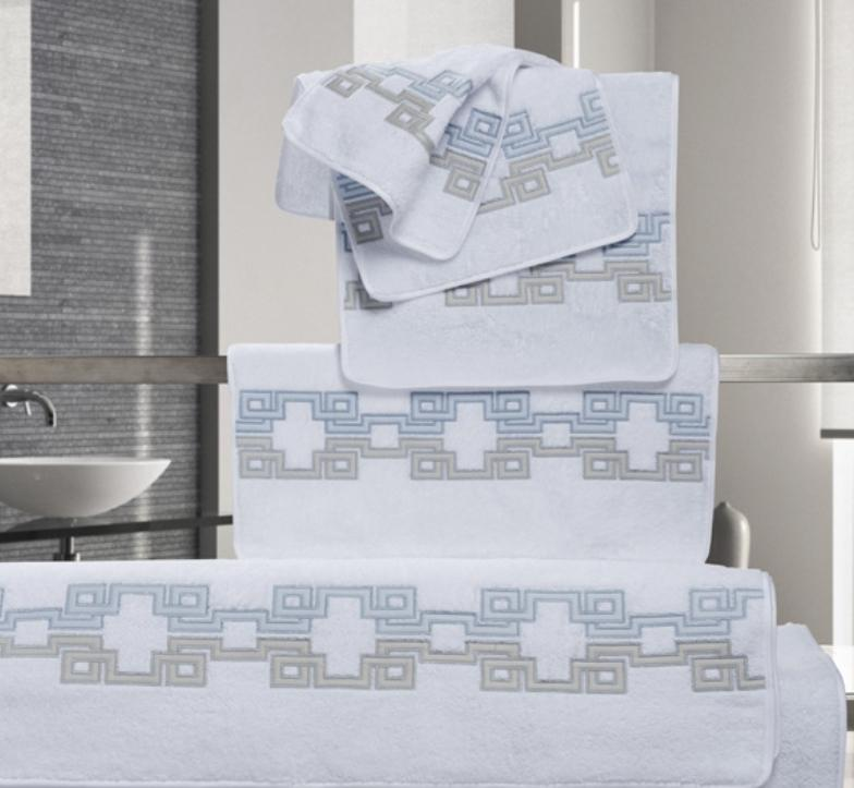 Carrara Embroidered Bath Towels by Dea Linens | Fig Linens and Home