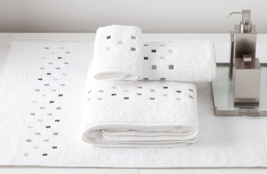 Minerva Embroidered Bath Towels by Dea Linens | Fig Linens and Home