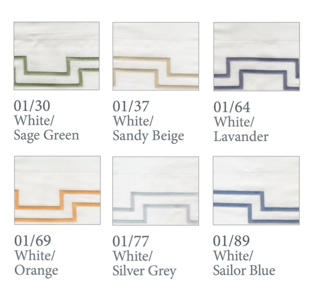 Fig Linens - Dea Linens - Musica Embroidered Bedding - Thread colors