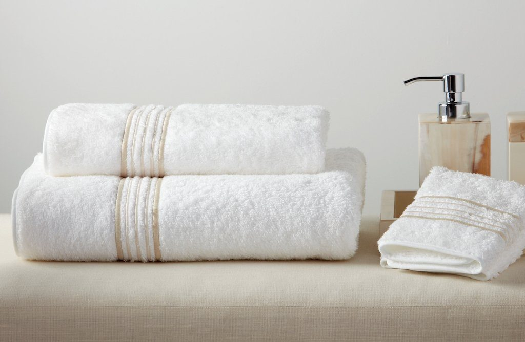 New York Embroidered Bath Towels by Dea Linens | Fig Linens and Home