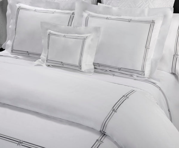 Panama Embroidery Bedding by Dea Fine Linens | Fig Linens
