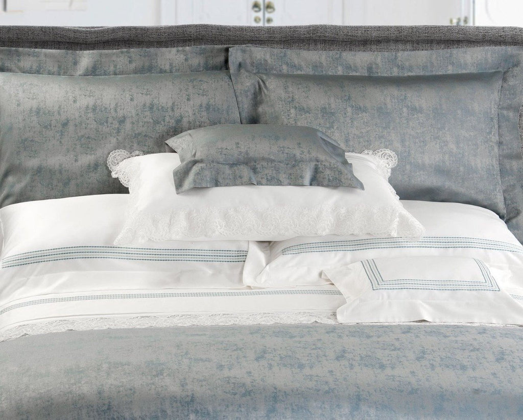 Urban Embroidery Bedding by Dea Fine Linens | Fig Linens