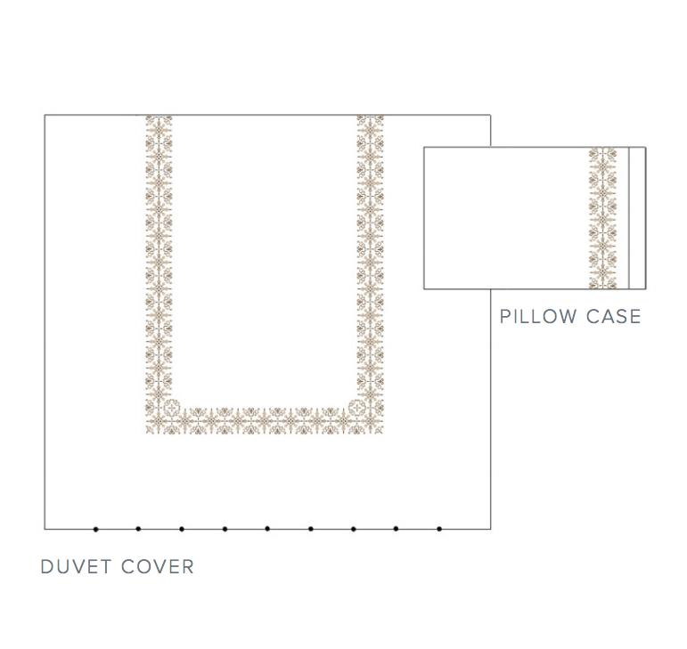 Fig Linens - Vanessa Embroidered Bedding by Dea Linens - duvet and cases
