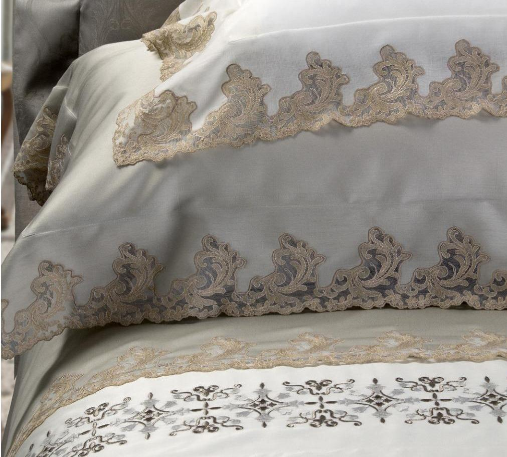 Fig Linens - Vanessa Embroidered Bedding by Dea Linens