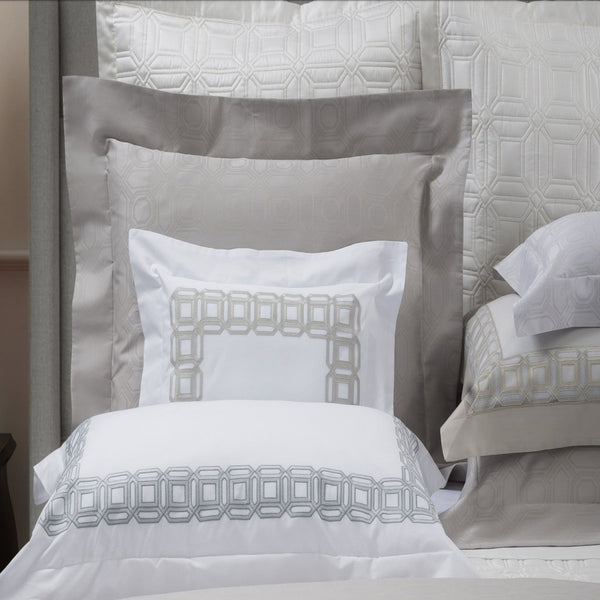 Versilia Embroidery Bedding by Dea Linens | Fig Linens and Home