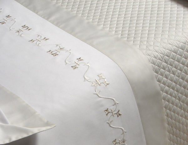 Vicky Embroidery Bedding by Dea Fine Linens | Fig Linens