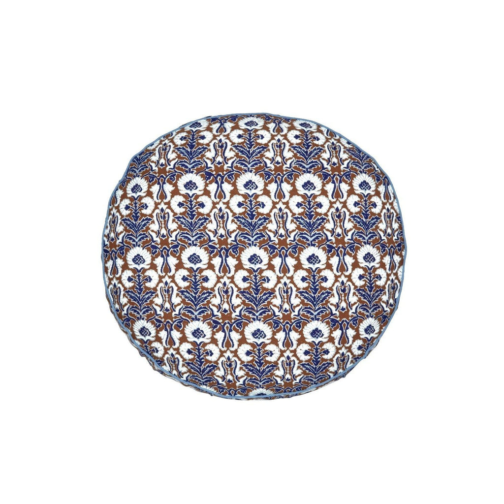 Fig Linens - Nica Round Decorative Pillow by John Robshaw