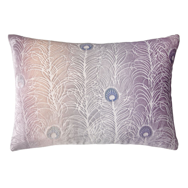 Prism Collection - Opal Peacock Feather Decorative Pillow by Kevin O'Brien Studio - Fig Linens
