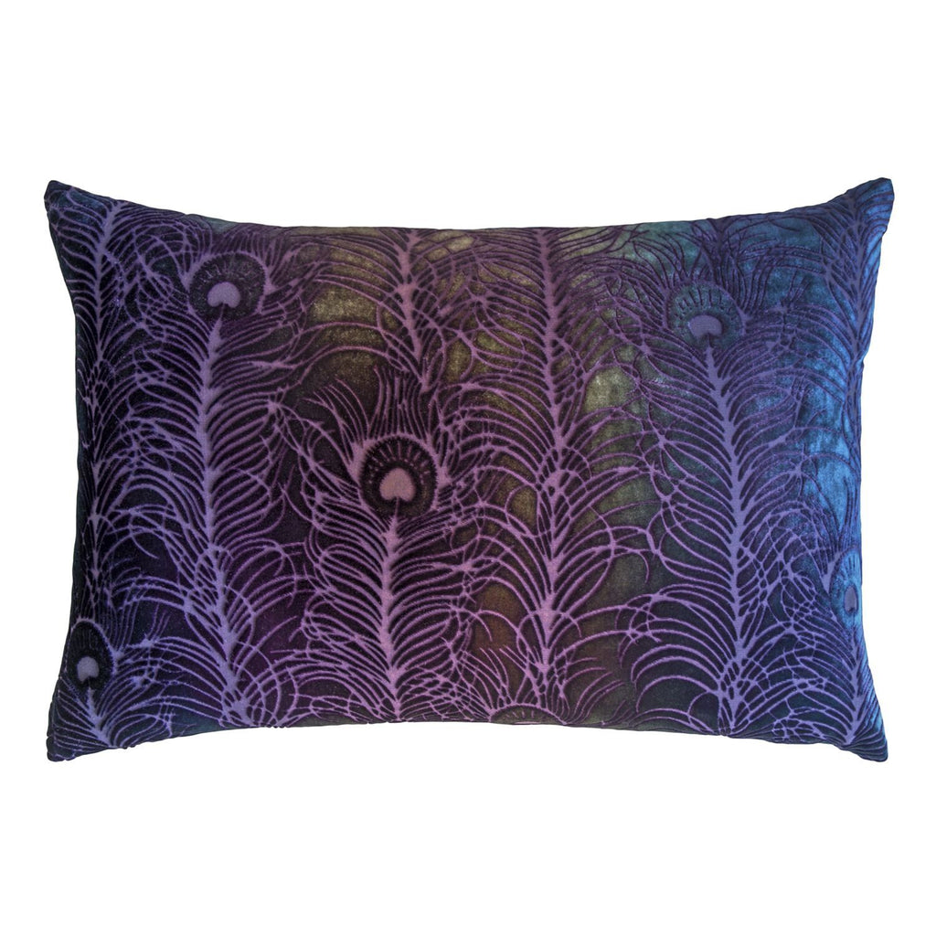 Fig Linens - Peacock Feather Decorative Pillow by Kevin O'Brien Studio