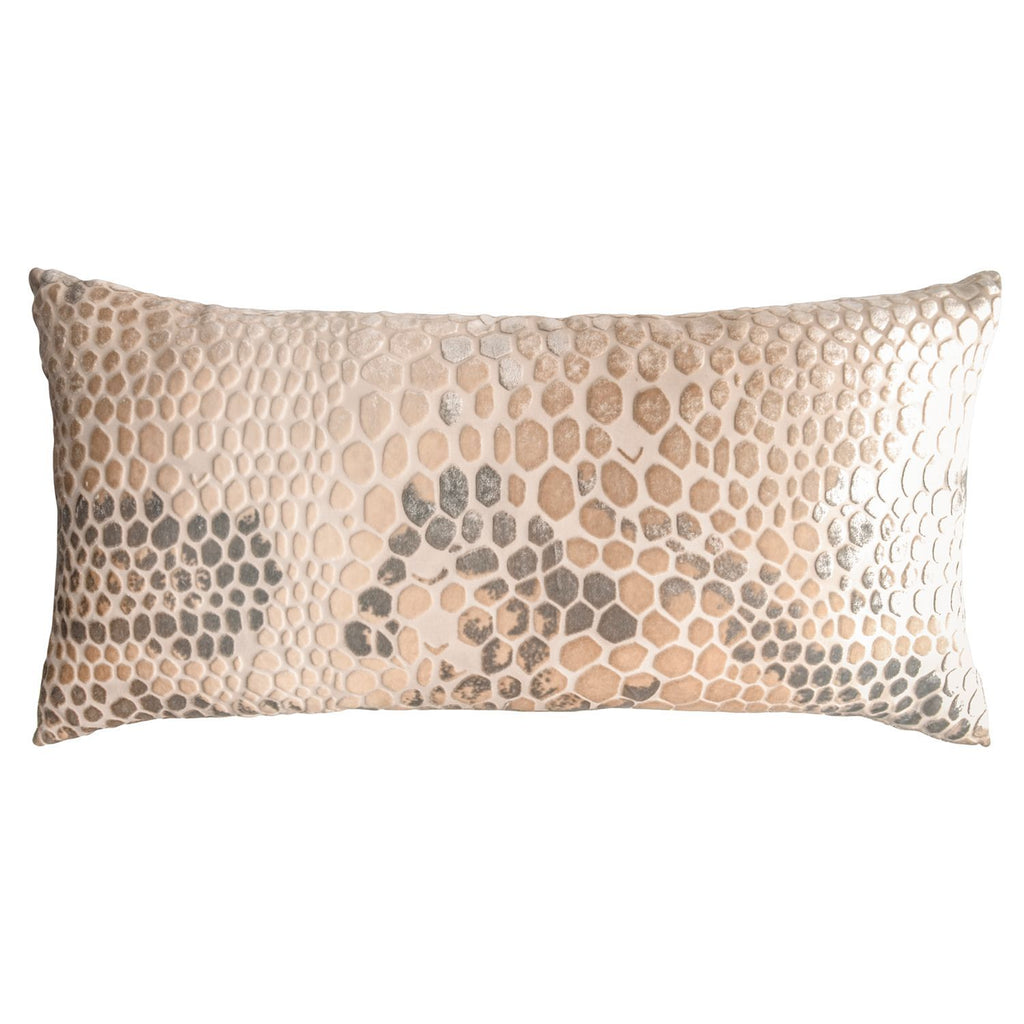 Snakeskin Decorative Pillow - Velvet Pillow by Kevin O'Brien Studio - Fig Linens