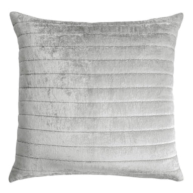 Channel Grey Velvet Euro Sham by Kevin O'Brien Studio | Fig Linens