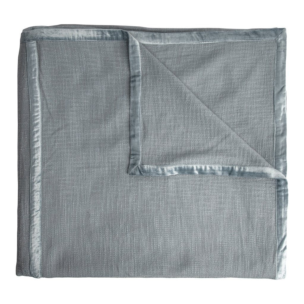 Fig Linens - Kevin O'Brien Studio - Chunky Knit Mineral Coverlet
