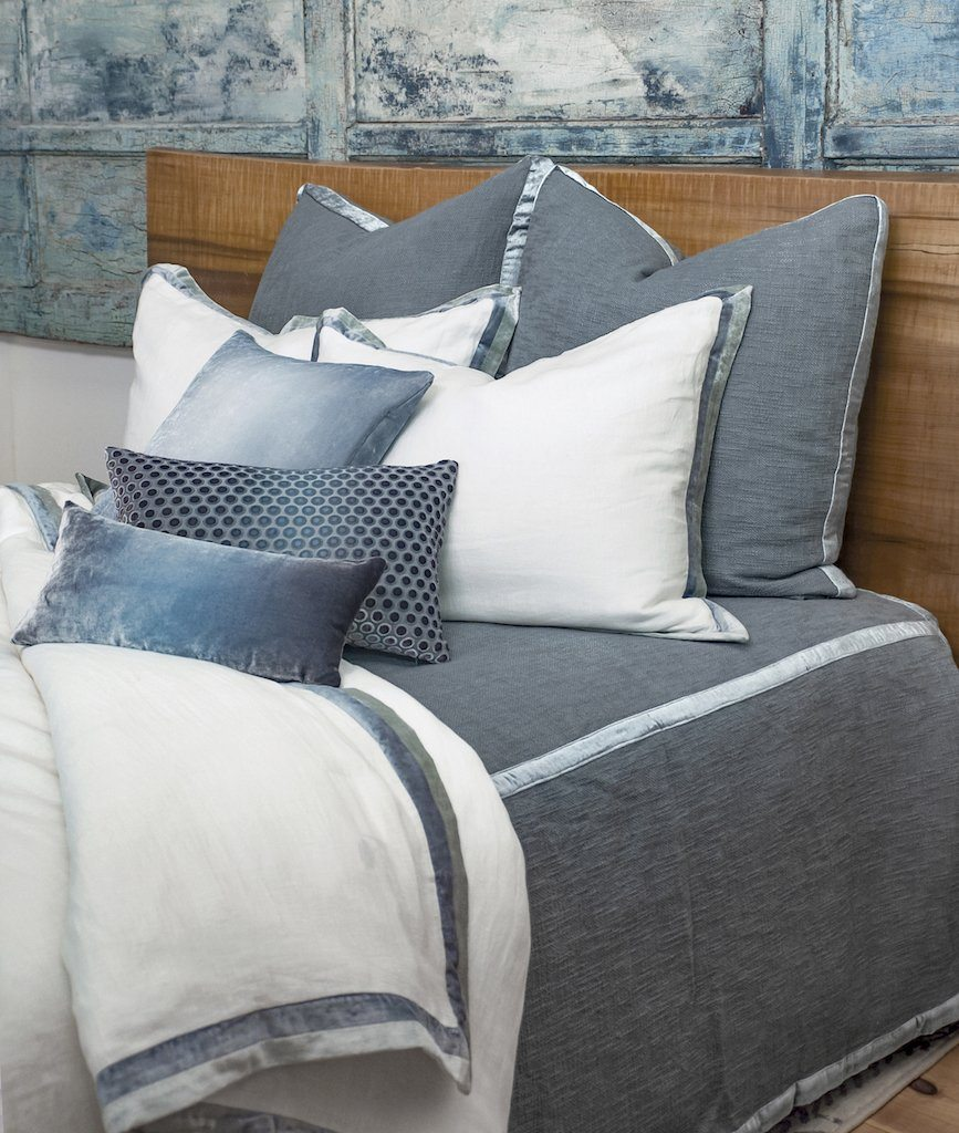 Chunky Knit Mineral Coverlet by Kevin O'Brien Studio | Fig Linens