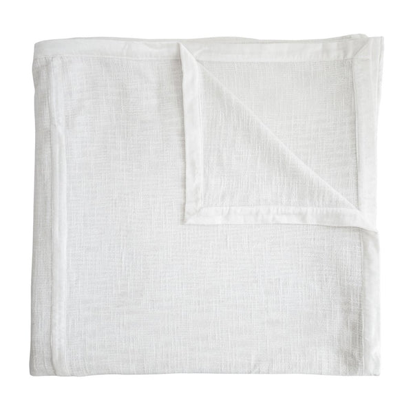 Fig Linens - Kevin O'Brien Studio Bedding - Chunky Knit White Coverlet