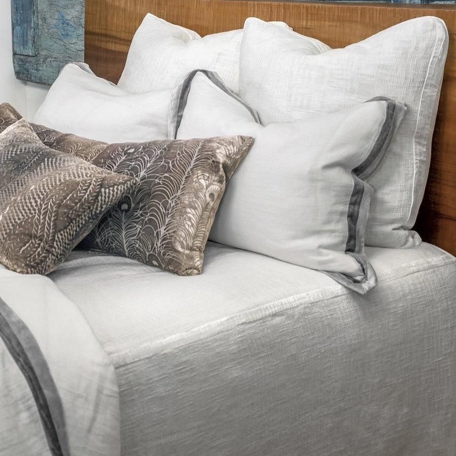 Chunky Knit White Coverlet by Kevin O'Brien Studio | Fig Linens