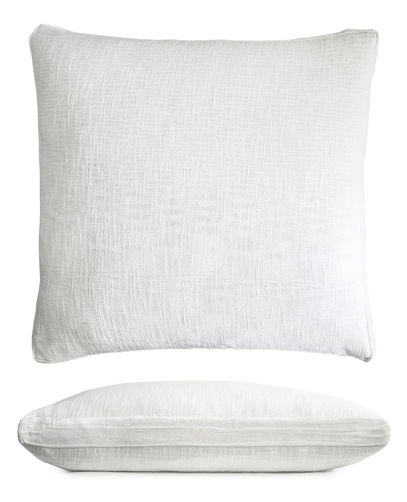 Chunky Knit White Euro Sham by Kevin O'Brien Studio | Fig Linens