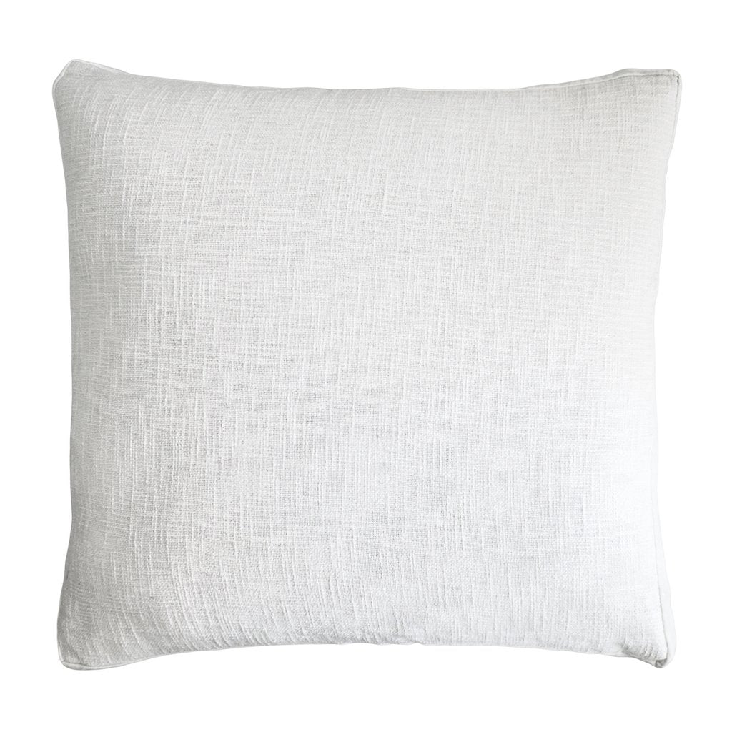 Fig Linens - Kevin O'Brien Studio Bedding - Chunky Knit White Euro Sham