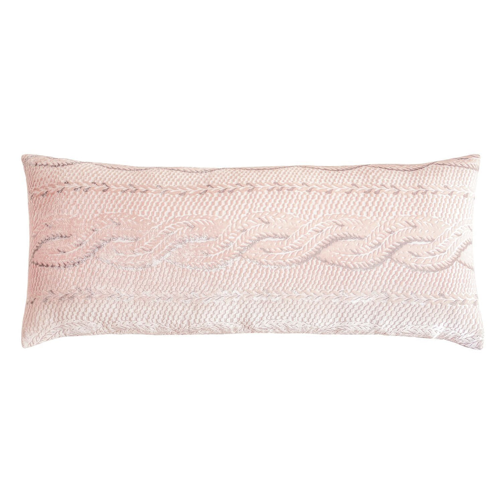 Blush Cable Knit Decorative Pillows by Kevin O'Brien Studio - Fig Linens