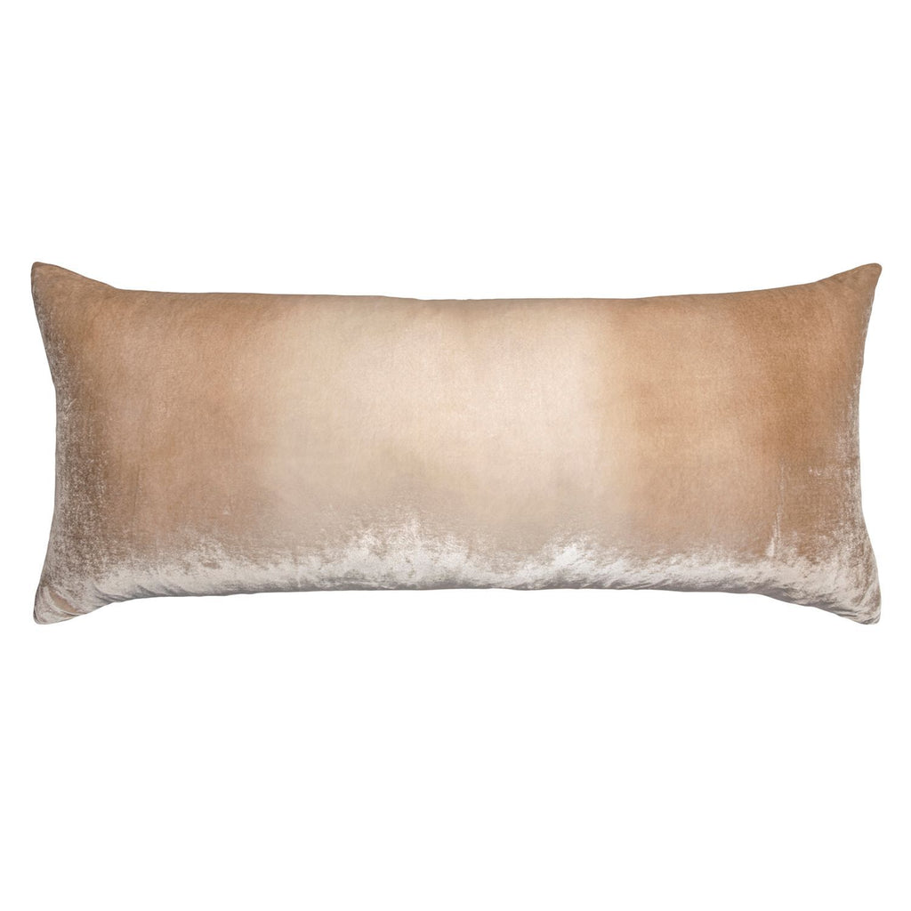 Latte Ombre Velvet Boudoir Pillow by Kevin O'Brien Studio -  Fig Linens