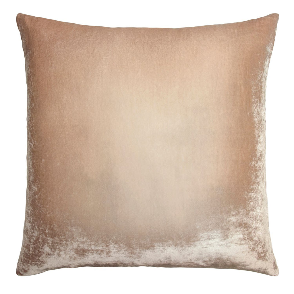 Fig Linens - Latte Ombre Velvet Decorative Pillow by Kevin O'Brien Studio