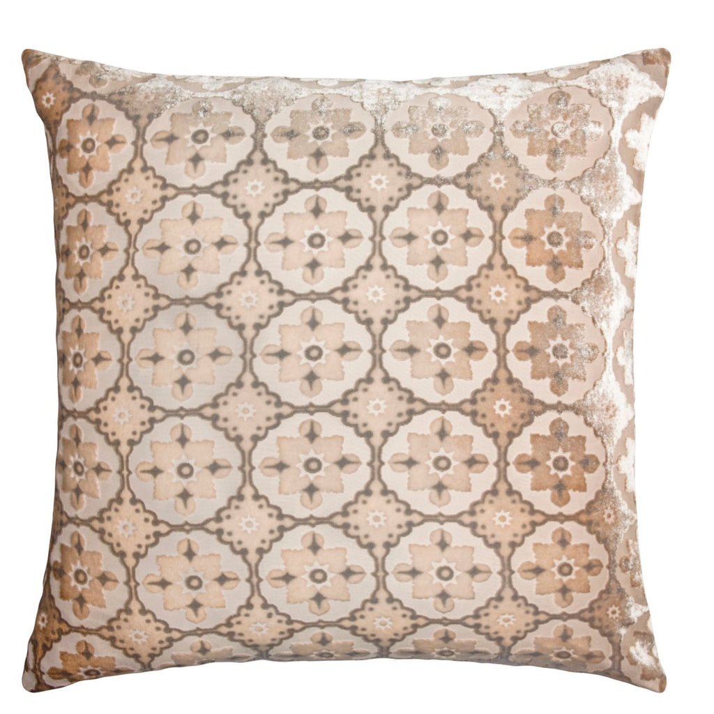 Fig Linens - Latte Small Moroccan Velvet Pillow by Kevin O'Brien Studio