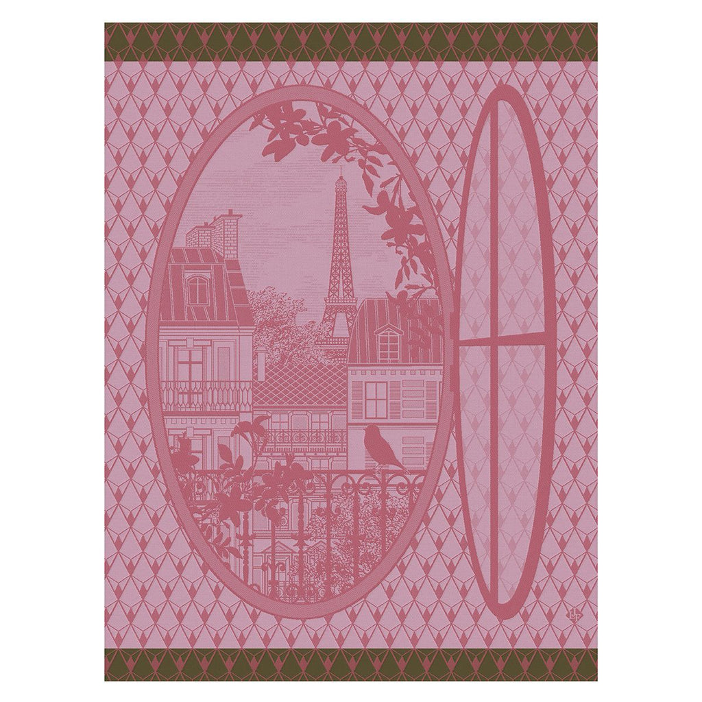 Fenêtre Sur Paris Prunus Tea Towels by Le Jacquard Français - Fig Linens